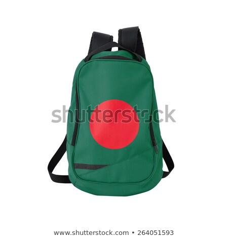 Zászló hátizsák izolált fehér vissza az iskolába oktatás Stock fotó © kravcs