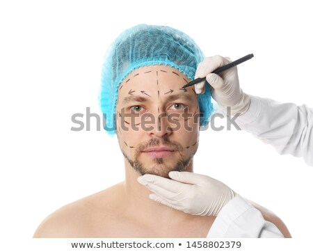 Plástico cirujano dibujo cara primer plano Foto stock © julenochek