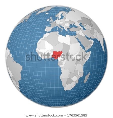 Nijerya dünya kırmızı basit görünür ülke Stok fotoğraf © Harlekino