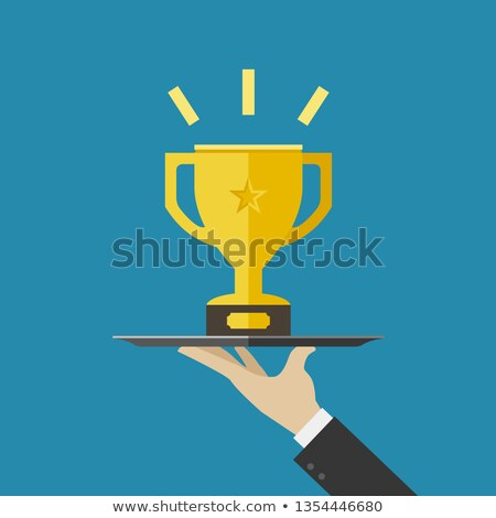 championish cups flat icons stock photo © biv