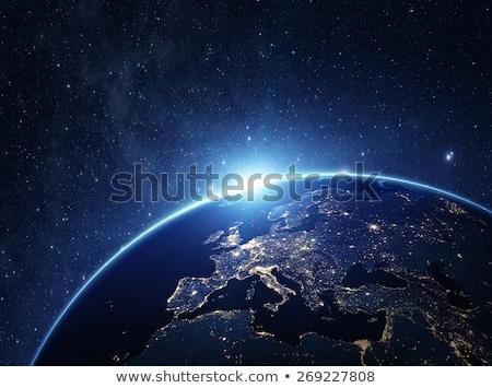 Европа свечение пространстве карта Элементы изображение Сток-фото © ixstudio