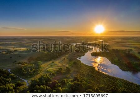Vidéki tájkép légifelvétel préri búza kukorica Stock fotó © PixelsAway