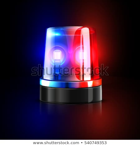 car blue and red flasher light sign isolated. Vector illustratio Stock photo © MaryValery