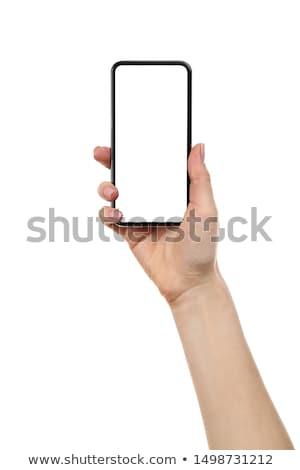 человеческая · рука · цифровой · таблетка · белый · экране - Сток-фото © AndreyPopov