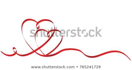 Twee Rood harten ruimte dag textuur Stockfoto © Lana_M