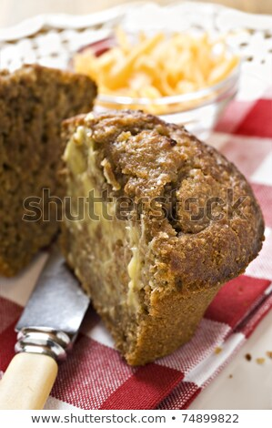 Banana And Carrot Bran Muffins With Cheese Stok fotoğraf © Tish1