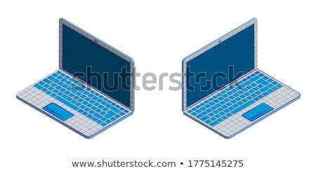 Laptop isoliert portable Computer weiß Business Stock foto © popaukropa