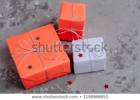 Christmas gifts wrapped in craft pape stock photo © dariazu