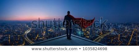 Szuper üzletember fiatal piros üzlet égbolt Stock fotó © AndreyPopov