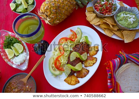 Pastor recipe fish from Mayan Mexico Stock photo © lunamarina