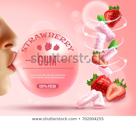 Vector illustraties zoete lippen mond Stockfoto © frescomovie