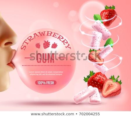 vector illustrations   sweet lips stock photo © frescomovie