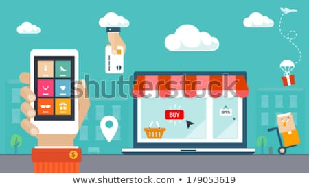 icon  cart  on online store  virtual gifts  Stock photo © Olena