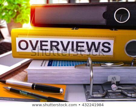 amarelo · escritório · dobrador · resumo · relatório - foto stock © tashatuvango