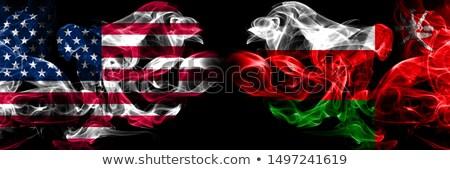 Fútbol llamas bandera Omán negro 3d Foto stock © MikhailMishchenko