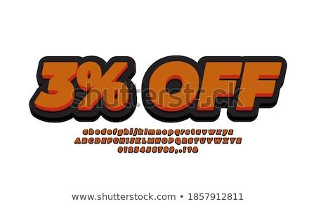 citromsárga · százalék · címke · kék · számok · árengedmény - stock fotó © tussik