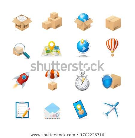 ilustração · 3d · caixa · cartas · isolado · branco · papel - foto stock © tussik