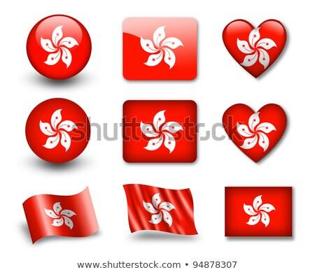 Гонконг изолированный сердце флаг белый Сток-фото © rogistok