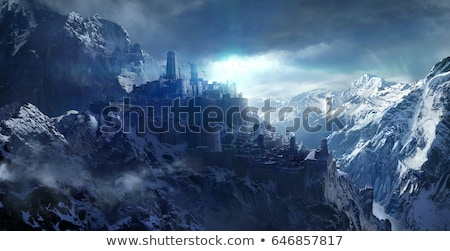 old castle on the on of a mountain stock photo © vapi