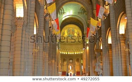 Monaco · kathedraal · boom · gebouw · straat - stockfoto © vichie81
