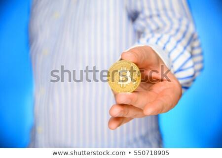 Empresario bitcoin tecnología monetario negocios dinero Foto stock © stevanovicigor