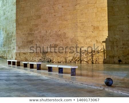 Cityscape and La Seu Cathedral, Xativa, Spain Stock photo © smartin69