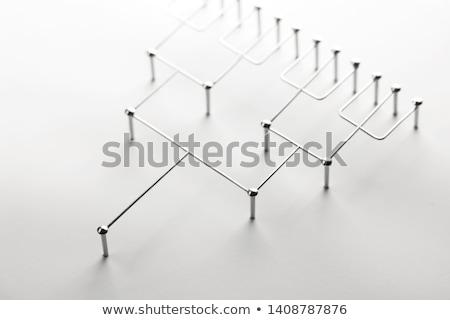 Krachtig beslissing macht denken touwen Stockfoto © Lightsource