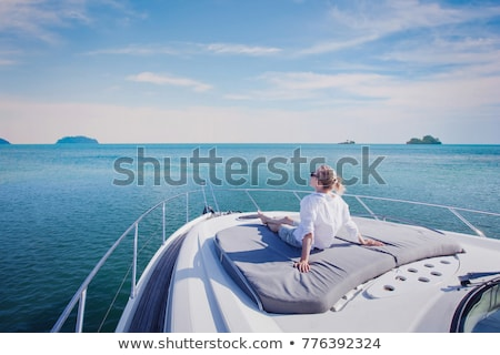 Girls relaxing on boat Stock photo © IS2