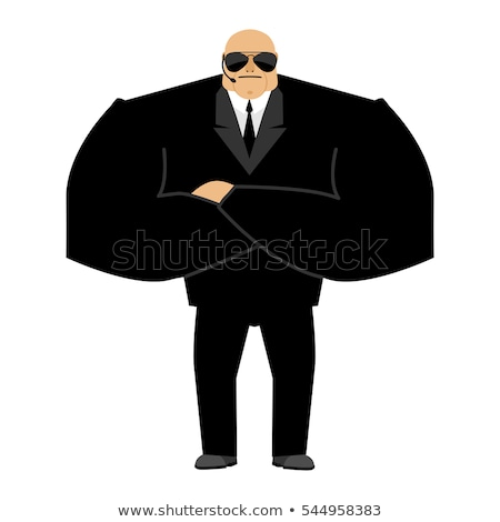 Bodyguard. Black suit and hands-free. Security man. Protection a Stock photo © popaukropa