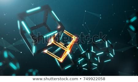 Projeto estilo teia bandeira tecnologia bitcoin Foto stock © PureSolution