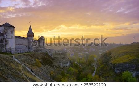 medieval fortress in kamenets podolsky ukraine stock photo © kotenko