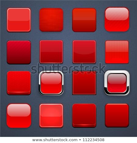 赤 · アプリ · アイコン · テンプレート · 金属の質感 · 金属 - ストックフォト © molaruso