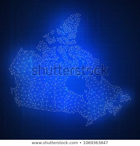 Polígono Canadá mapa bandeira tecnologia Foto stock © RAStudio