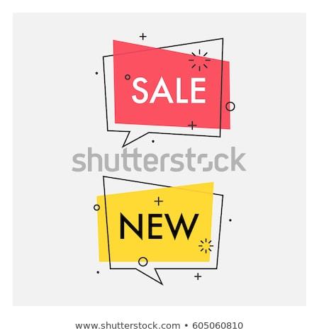 Banery czat bańki stylu sprzedaży streszczenie Zdjęcia stock © SArts