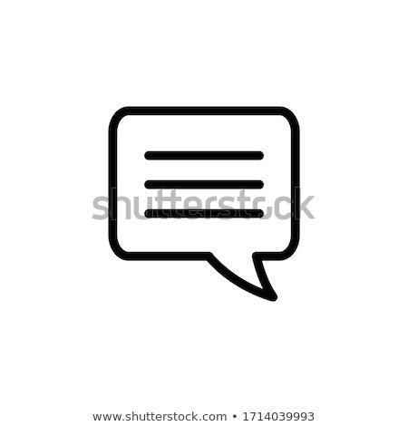 conversar · mensagem · ícone · linha · estilo · tecnologia - foto stock © taufik_al_amin
