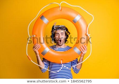 Engraçado masculino cara subaquático óculos de proteção Foto stock © vilevi