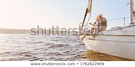Pár férfi nő álom jacht hajóút Stock fotó © studiostoks