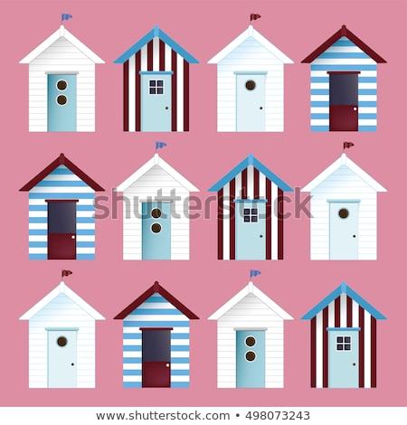 Plaj kulübe örnek ev ahşap manzara Stok fotoğraf © bluering