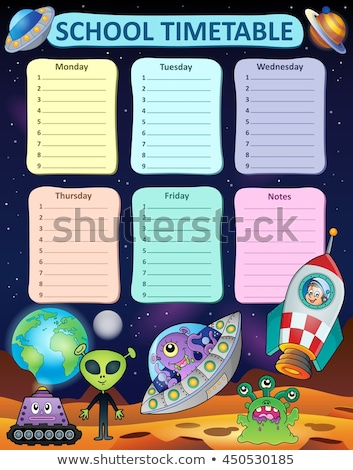 Weekly school timetable design 8 Stock photo © clairev