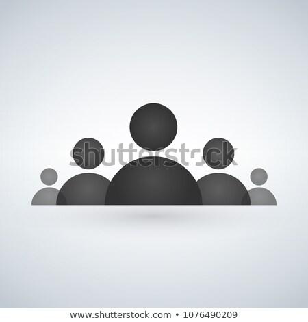 Pessoal conselho ícone isolado moderno reunião Foto stock © kyryloff
