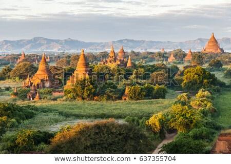 Buddhist temple complex in Bagan Stock photo © romitasromala