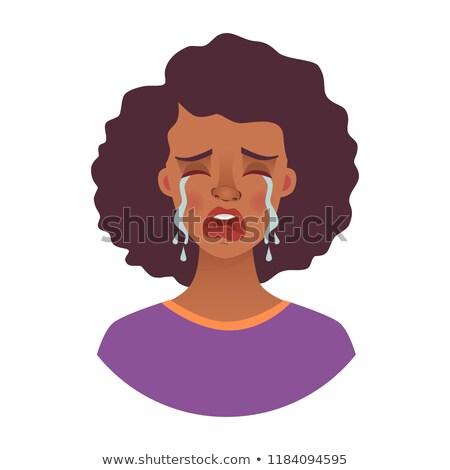 tristesse · douleur · léger · ligne · vecteur · icône - photo stock © maryvalery