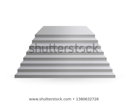escalera · escaleras · líder · hasta · aislado · blanco - foto stock © iserg
