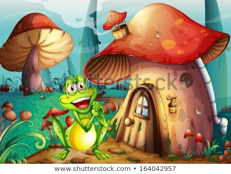 cartoon · verde · rana · divertente · animale - foto d'archivio © bluering