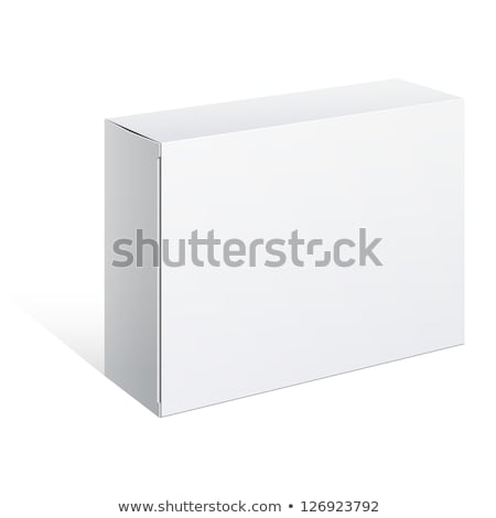 Packed into Carton Box Device Isolated on White Stock photo © robuart