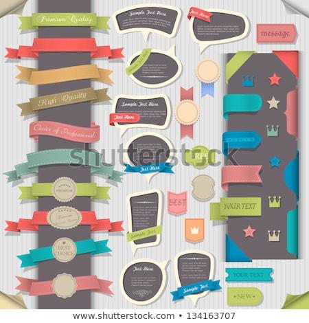 3D · etichette · legno · vettore · texture · metal - foto d'archivio © sarts