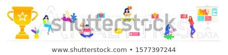 trabalhador · de · escritório · trabalhando · lugar · freelance · trabalhar · elegante - foto stock © rastudio