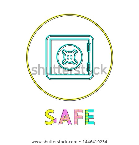 Safe Logotype with Round Border Colorful Poster Stock photo © robuart