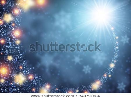 Tél keret kék fagyos minta világoskék Stock fotó © Margolana