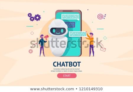 Chatbot app developmentconcept landing page. Stock photo © RAStudio